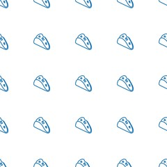 taco icon pattern seamless white background