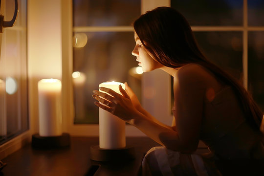 Girl candles divination romantic magic