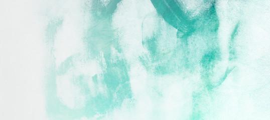 Green watercolor background.Art design. Texture paper.