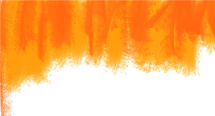 Orange watercolor background for your design, watercolor background concept, vector.