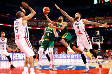 Basketball - FIBA World Cup - Second Round - Group L - France v Australia