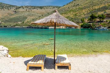 beach in Porto Palermo, albania riviera, Albania