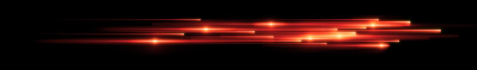 Dynamic lights shape on dark background. High speed optical fiber concept. 3d rendering