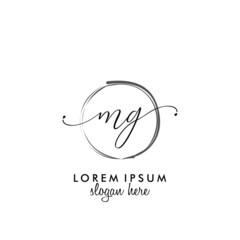 Fototapeta MG Initial beauty monogram logo vector obraz