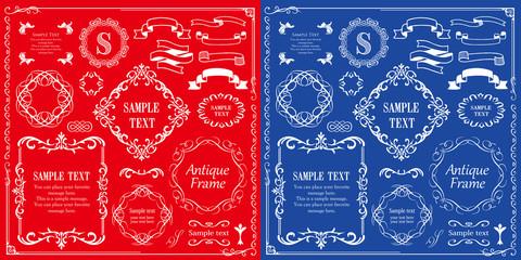 Fototapeta カリグラフィーフレーム 広告 パンフレット カードデザイン obraz