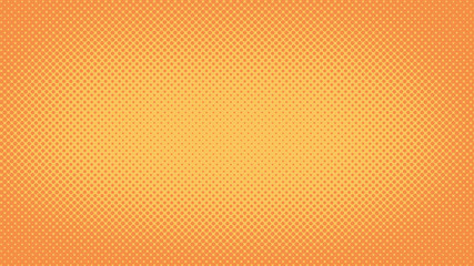Orange retro comic pop art background with haftone dots design. Vector clear template for banner or comic book design, etc