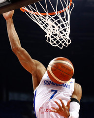 Basketball - FIBA World Cup - Second Round - Group L - Dominican Republic v Lithuania