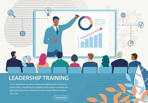 Informative Banner Inscription Leadership Training