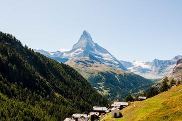Zermatt, Findeln, Matterhorn, Sunnegga, Bergkapelle, Alpen, Wallis, Weiler, Alm, Bergwiesen, Bergblumen, Sommer, Schweiz