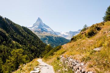 Zermatt, Findeln, Matterhorn, Wanderweg, Sunnegga, Findelschlucht, Alpen, Wallis, Sommer, Schweiz