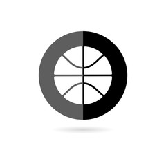 Basketball icon isolated on white background