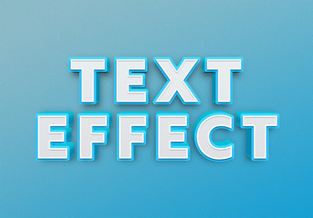 Bold 3D Text Effect Mockup
