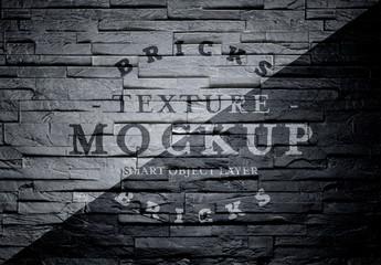 Dark Brick Texture Mockup