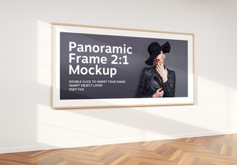 2:1 Aspect Ratio Panoramic Frame in Interior Mockup