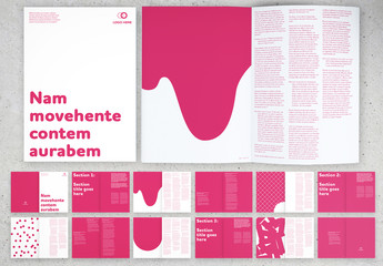Pink Booklet Layout with Graphic Elements