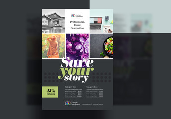 Grid-Style Photo Flyer Layout