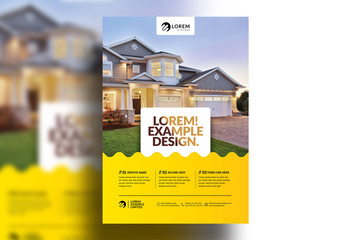 Flyer Layout with Yellow Gradient Elements