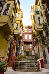 Houses in a poor district Fatih of Istanbul, Turkey