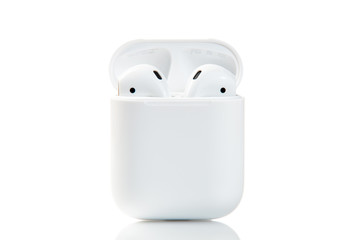 Apple airpods isolated on white background