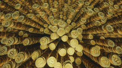 golden bitcoin towers / stacks 4