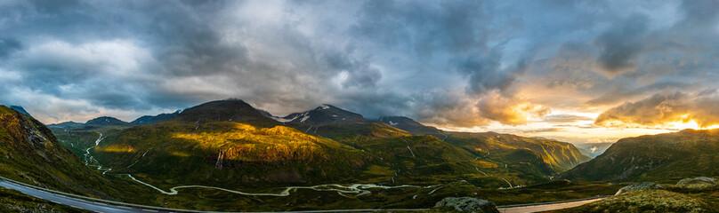 Photo sur Aluminium Bleu jean Norway landscape