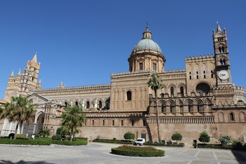 Foto op Canvas Palermo Palermo, Italy - June 29, 2016: The cathedral of Palermo