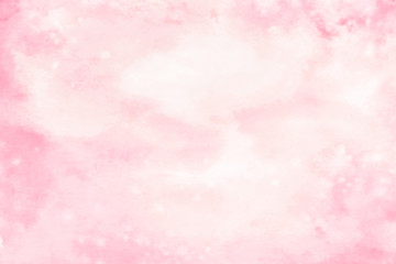 Abstract artistic light pink blurry watercolor background with stains