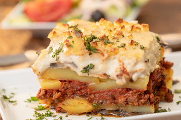 moussaka on wood