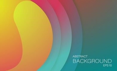 creative retro color background with circle shapes for web design