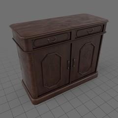 Retro wooden bureau