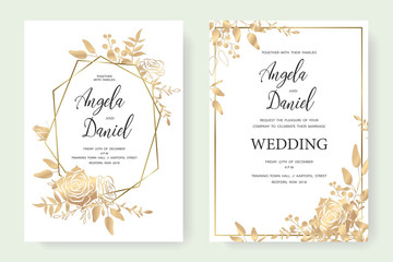 wedding gold invite