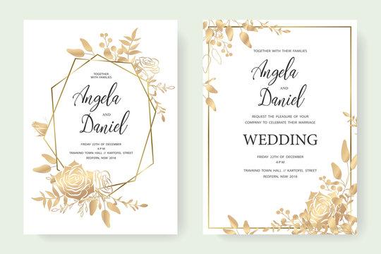 wedding gold invite