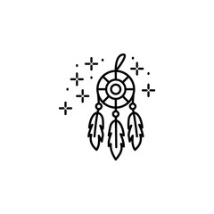 Dreamcatcher feathers icon. Element of sweet dreams icon