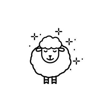 Sheep animal sleep icon. Element of sweet dreams icon