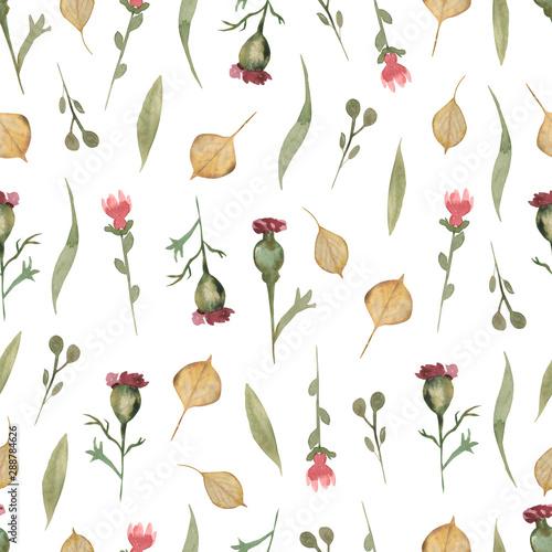 Watercolor Wildflower Floral Pattern Delicate Flower