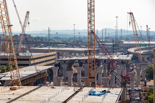 Interstate Bridge construction