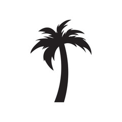 Palm tree graphic design template vector isolated