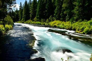 Flowing Metolius River
