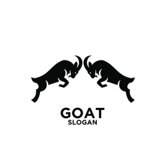 goat logo icon design vector