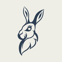 Rabbit Logo Design icon illustration