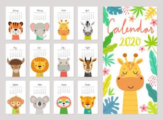 animals calendar 2020