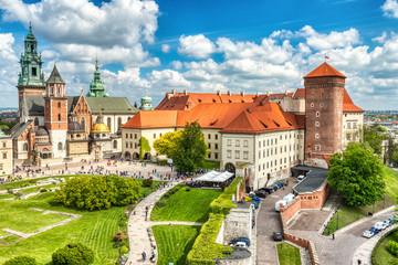 Tuinposter Krakau Wawel Castle during the Day, Krakow