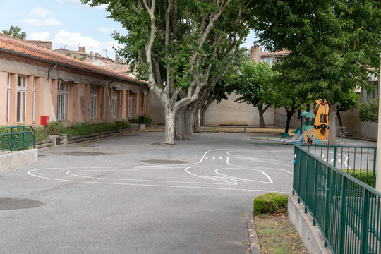 School playground preschool building exterior