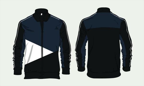 Varsity sports jacket template design vector mockup