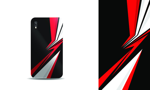 sporty abstract phone cover design template
