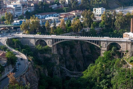 Constantine, Algeria - 05/08/2015: Historical bridge in Constantine