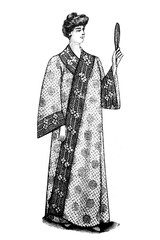 Bathrobe - Vintage Illustration 1905