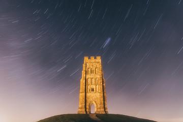 Glastonbury Tor under the stars