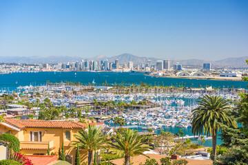 Fototapete - San Diego, California, USA Cityscape