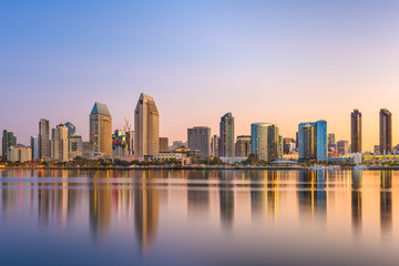 Fotomurales - San Diego, California, USA Cityscape